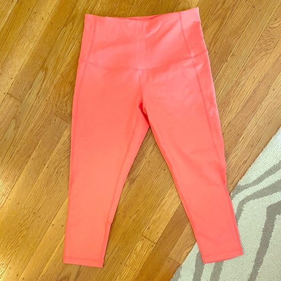 Zella workout leggings - new, coral pink